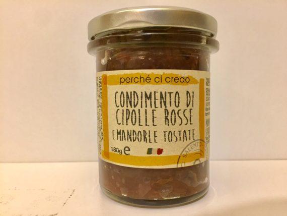 Condimento Di Cipolle Rosse E Mandorle Tostate